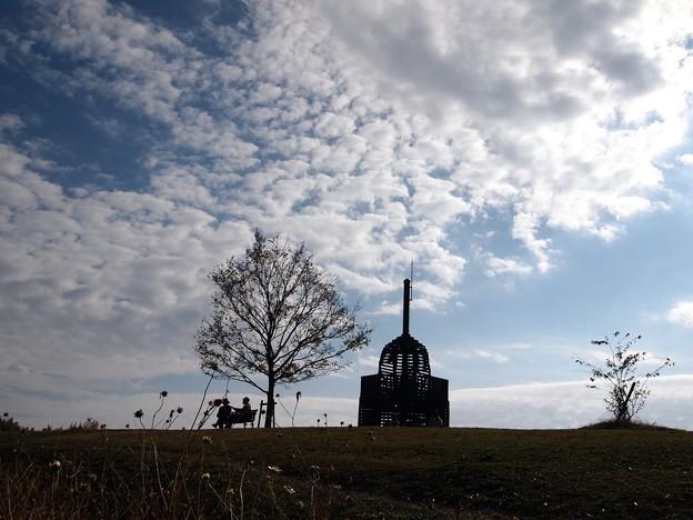 写真: 花の丘の空