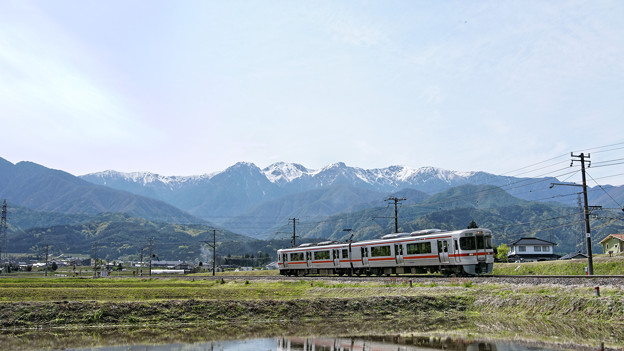 Photos: 「飯田線秘境駅巡り」号、荒田カーブにて。