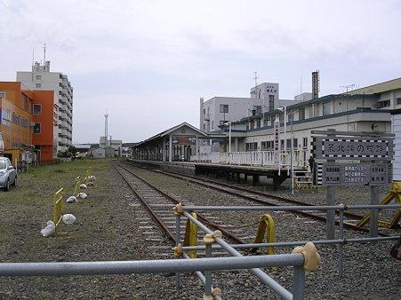 稚内駅ホームを望む