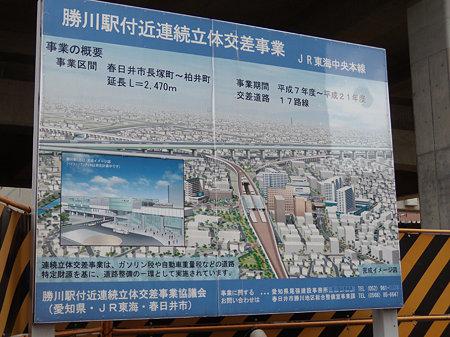勝川駅高架化看板