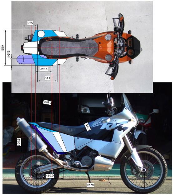 KTM950 Adv 2-1 exhaust CAD
