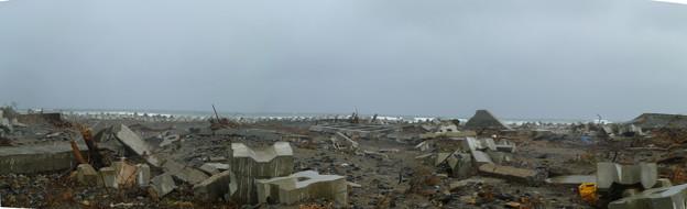 津波で壊れた堤防