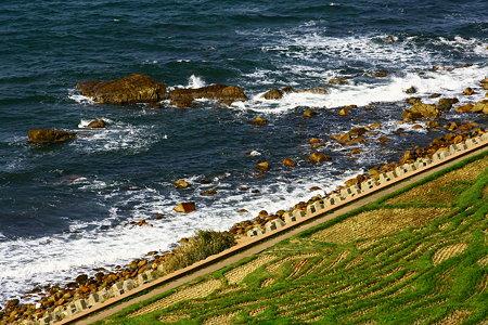 海岸と棚田