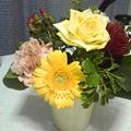 写真: おめでとうのお花。