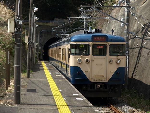 113系外房線(行川アイランド駅)