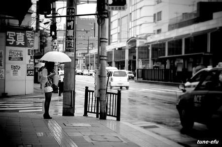 雨が降った