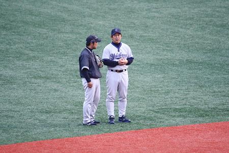 波留コーチと新ヘッドコーチ
