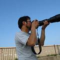 写真: ウミネコを撮影中のヒゲジジイ