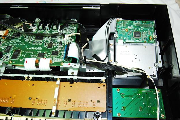 写真: XP-50 フロッピーディスクドライブ部分