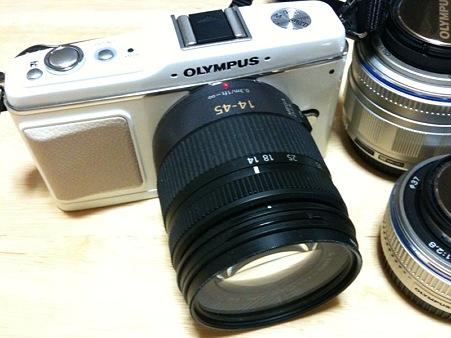 G1の標準レンズをE-P1に付けてみた
