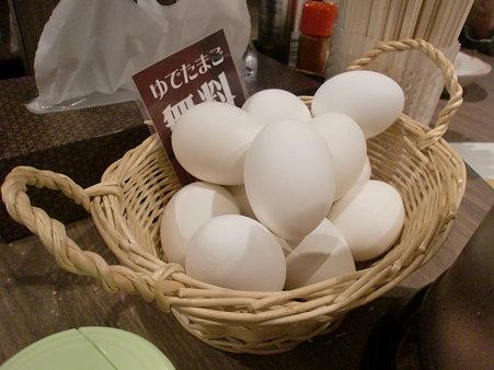 白樺山荘 らーめん共和国店 サービスゆで卵