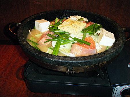 秋鮭の石狩鍋仕立て