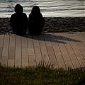 写真: ふたりの影