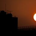 写真: 或る夕日