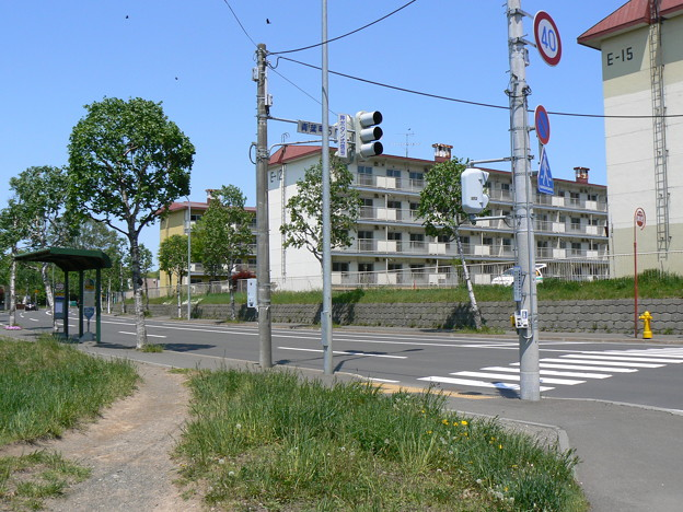 Photos: 青葉町6丁目交差点と下野幌団地P1010093