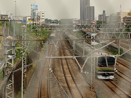E231系東海道本線とE231系湘南新宿ライン(東神奈川)