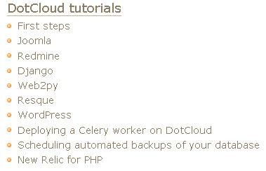 DotCloud tutorials