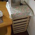 写真: すのこで作ったサイドテーブル