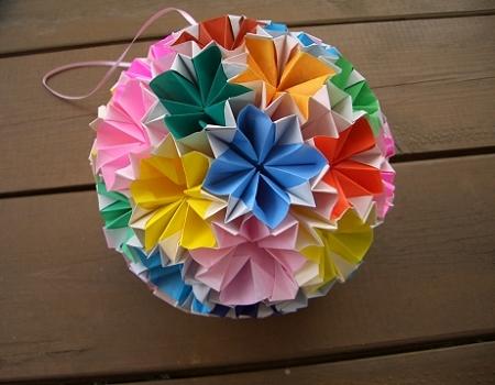 ハート 折り紙 折り紙で作る七夕飾り くす玉 : divulgando.net