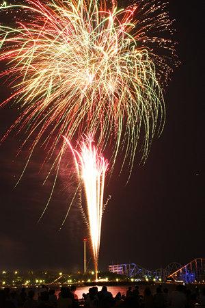 海の公園で花火3!(090822)