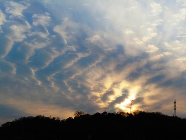 龍神が現れそうな大寒の夕空 in 龍王山