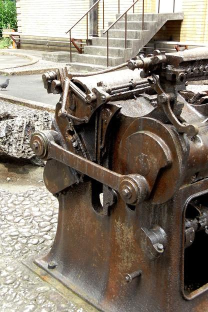 焼損した印刷機