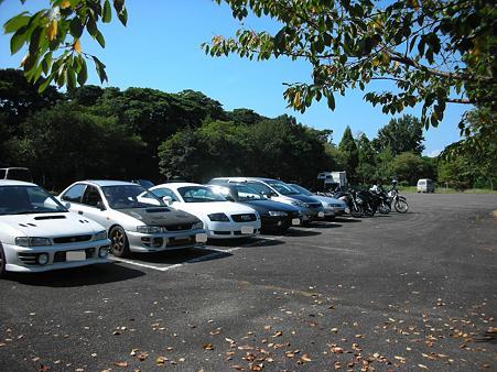 白爪キャンプ場駐車場1