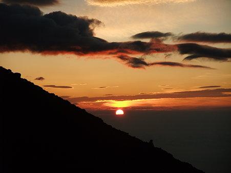 富士からの日の出