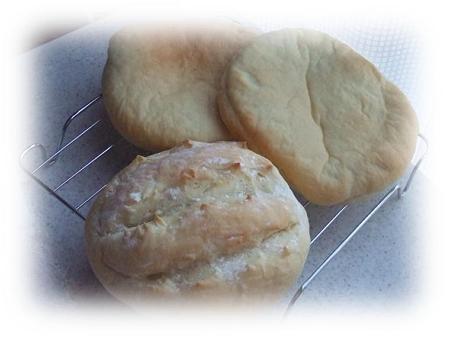 もっちり米粉パン(あんサンド&ハムチーズサンド)