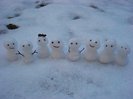 雪だるまちゃんたち