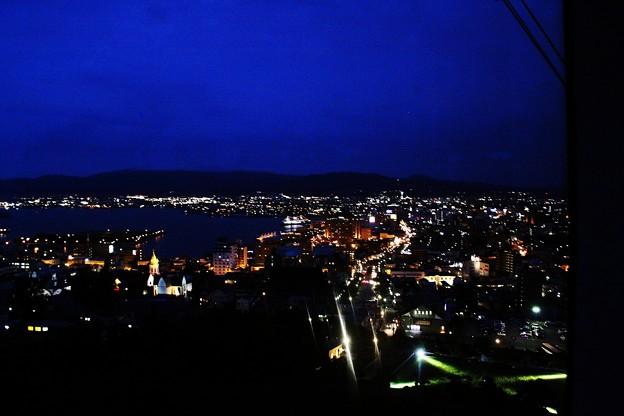 ロープウェーからみた函館の街