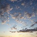 写真: 河北潟の朝日