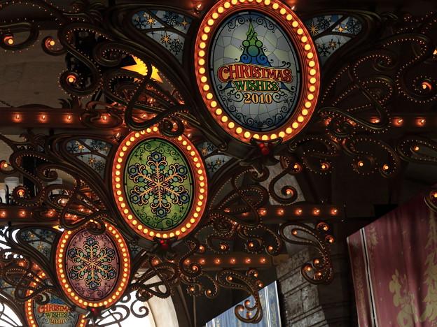 東京ディズニーシーの2010年クリスマスの様子です。