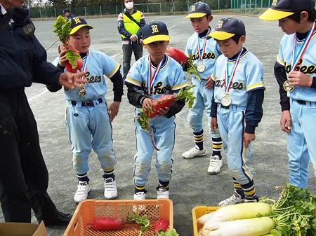 決勝でのHR賞は 赤い野菜